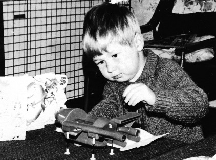 Vince playing with Thunderbird 2