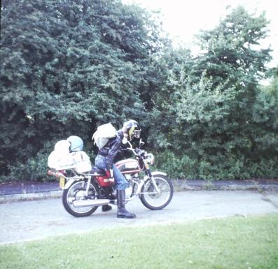 Vince on overloaded Honda CB200