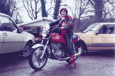 Lynda on Suzuki GSX250