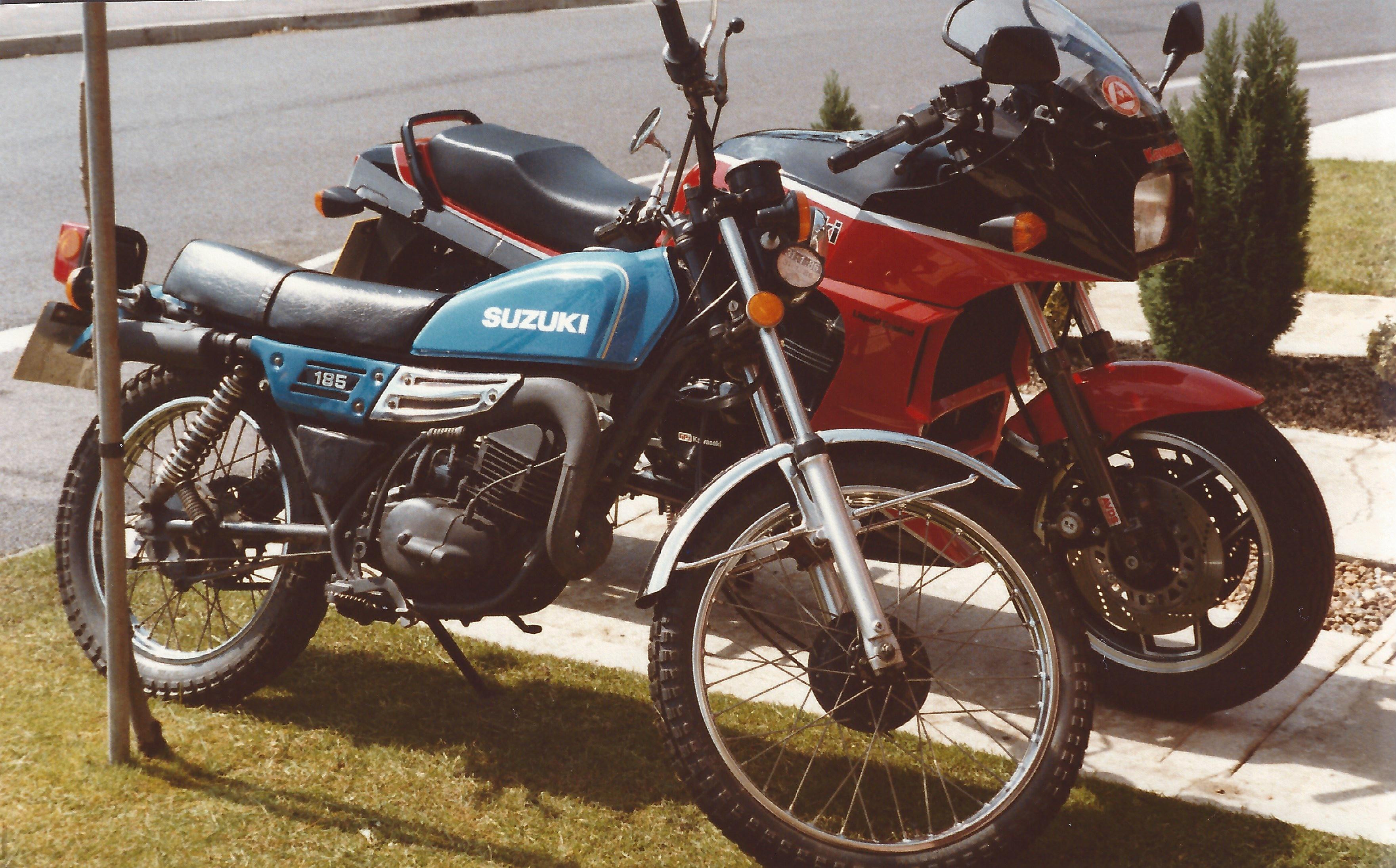 Suzuki TS185 & Kawasaki GPz750R