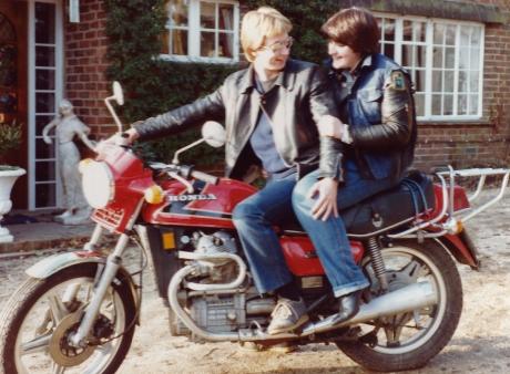 Vince & Karen on Honda CX500
